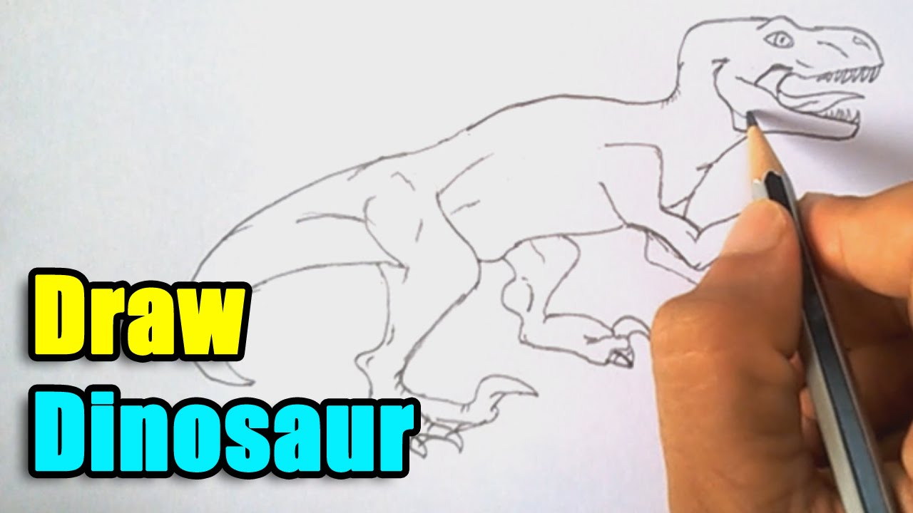 Drawing dinosaur brings a lot of fun to a child