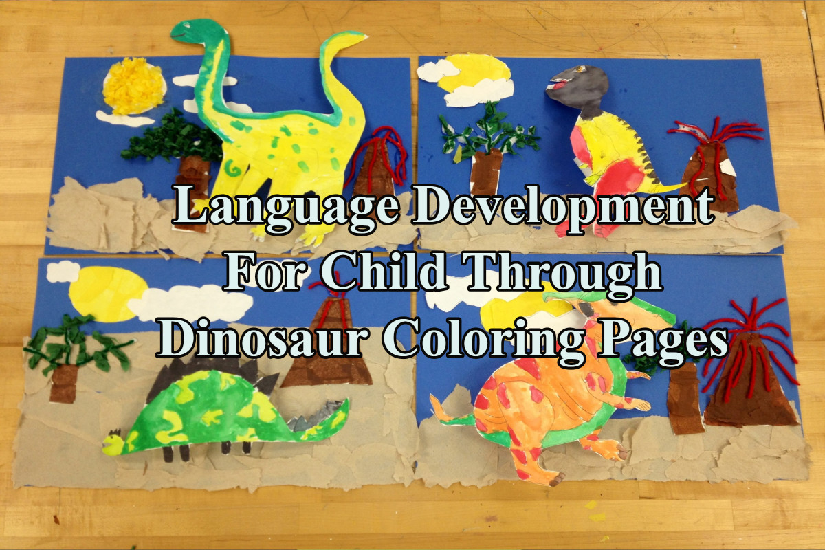 Language Development For Child Through Dinosaur Coloring Pages