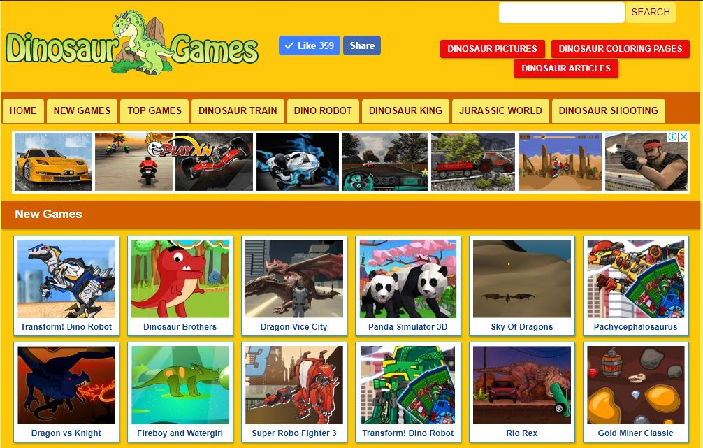 The Best Website About Dinosaur Games For Kids