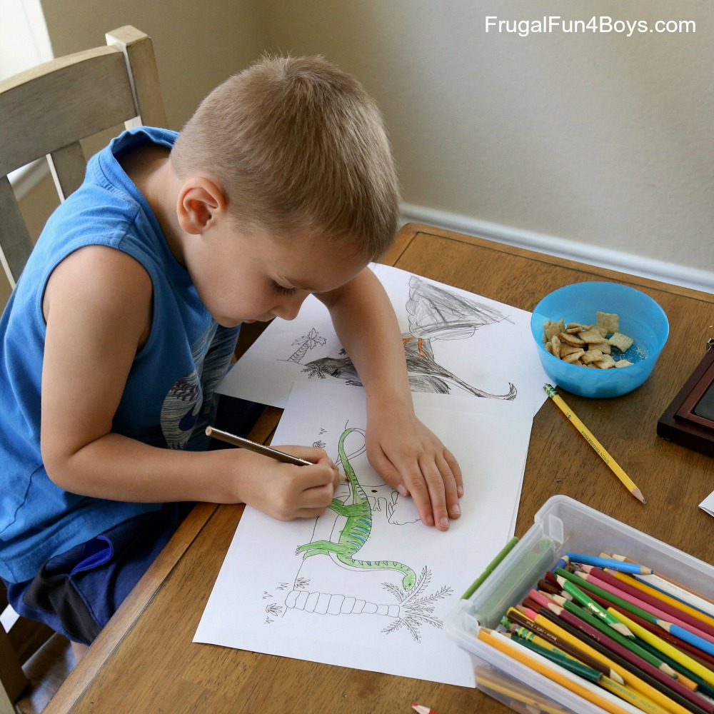 Dinosaur Coloring Pages are very inspiring and imaginative