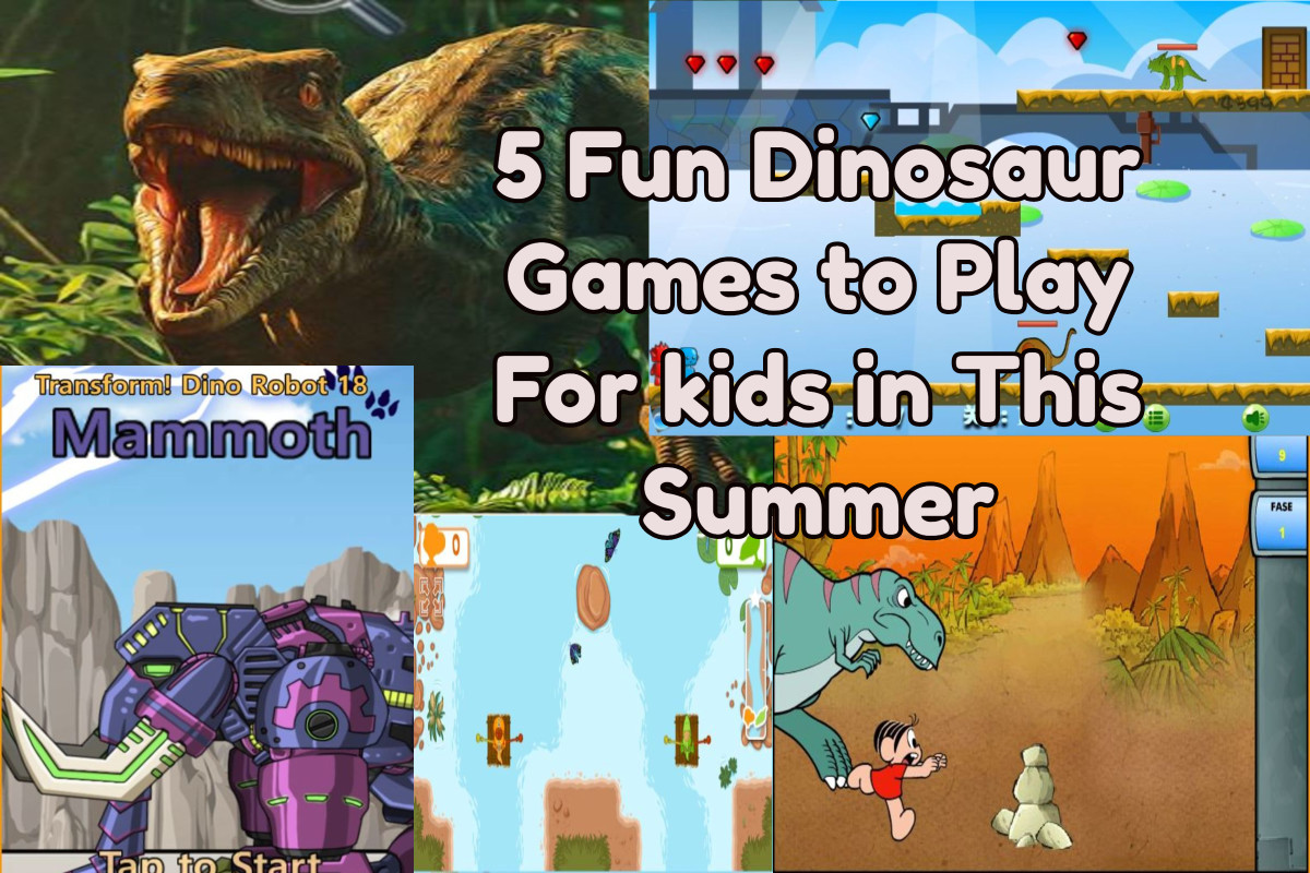 5 Fun Dinosaur Games to Play For Kids in This Summer