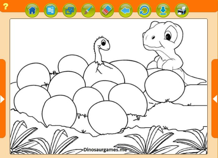 Free Baby Dinosaur Coloring Pages Are Fun For Kids