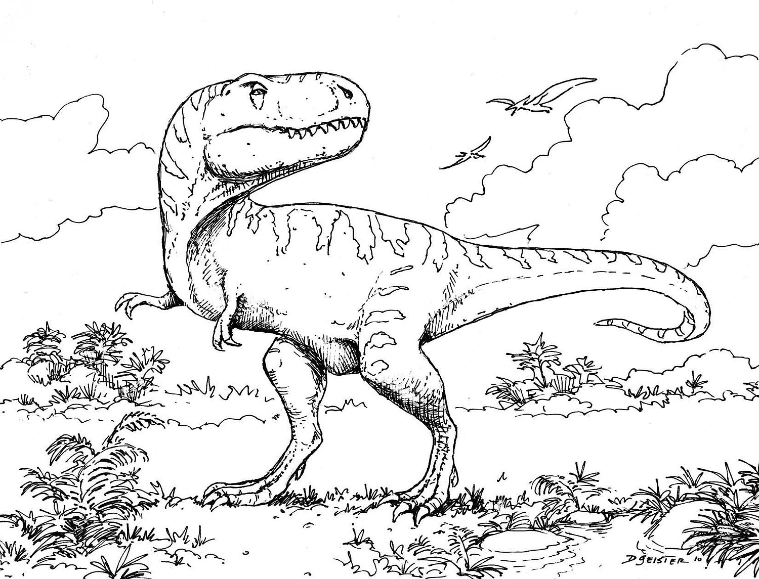 The Reasons That Adults Like Also To Color Dinosaur Pages ...